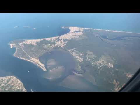 Voo NVT/VCP EMB195 14/NOV/2017 - Bela vista aérea da Região de Itapoá-SC até Paranaguá-PR
