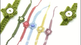How To Crochet A Summer Bracelet With Flower