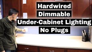 Kitchen Under Cabinet Lighting - No Plugs! Hardwired installation