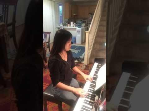 Janice playing a Mozart Sonata
