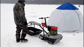 Самодельный мини снегоход для рыбалки