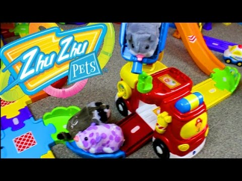 Smart Wheels City: Zhu Zhu Pets 2017! Vtech Go! Go! Smart Wheel Playsets & Zhu Zhu Hamsters