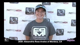 2020 Alexandria Rose Avalos Second Base Softball Skills Video - CA Grapettes