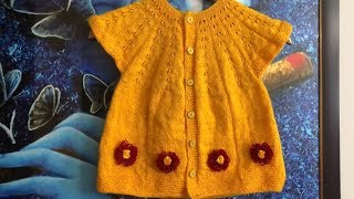 Knitting Baby Frock for 3 yrs above