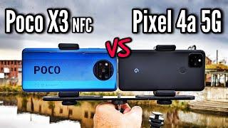 Google Pixel 4a 5G VS Xiaomi Poco X3 NFC Camera Comparison