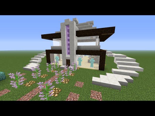 Video como hacer una casa moderna en minecraft paso a paso for Como hacer una casa clasica en minecraft
