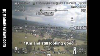 Flight test of the HobbyKing 200mW 900MHz FPV video system for RC planes