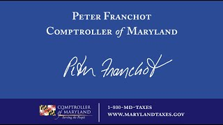 Interview with the Comptroller of Maryland Peter Franchot