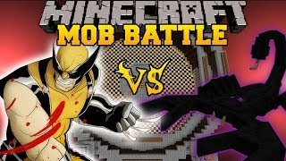 EMPEROR SCORPION VS WOLVERINE - Minecraft Mod Battle - Mob Battles - Superheroes and OreSpawn Mods