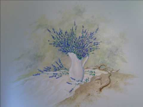 Preview video Decorazione Murale - Lavanda e Conchiglie