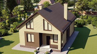 Проект дома 163-H, Площадь дома: 163 м2, Размер дома:  8,9x12,5 м