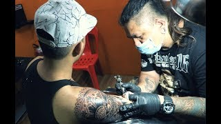 Getting A Filipino Tribal Tattoo 2018 - TATTOO TIME LAPSE