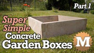 SUPER Simple Concrete Garden Boxes - PART 1 - Make The Forms