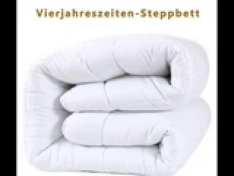 DUCK & GOOSE Hochwertige 4-Jahreszeiten Kombidecke Bettdecke Steppdecke Steppbett Microfaser 200x200