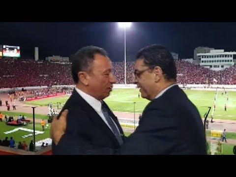 الخطيب يسلم على محمود طاهر في مباراة الأهلي