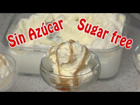 Helado de Vainilla, Sin Azúcar, apto para diabéticos