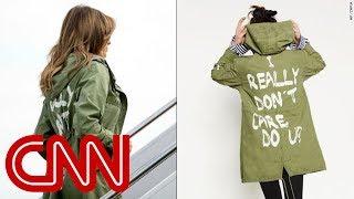 Melania Trump dons jacket saying