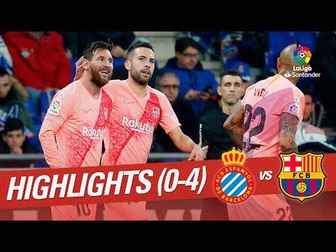Download Highlights RCD Espanyol Vs FC Barcelona (0-4) HD Mp4 3GP Video and MP3