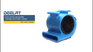 Floor Air Fan and Blower - Portable with Timer - 3-Speed     SKU #D1146638