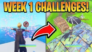 Fortnite ALL WEEK 1 CHALLENGES GUIDE! - CROWN of RV's, Forbidden Locations (Battle Royale Season 7)