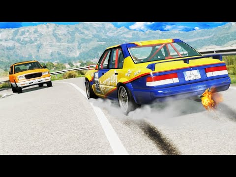 Illegal Racing Crashes #2 - BeamNG DRIVE | CrashTherapy