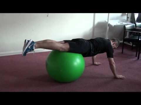 Gym Ball 12: Hip twist on ball