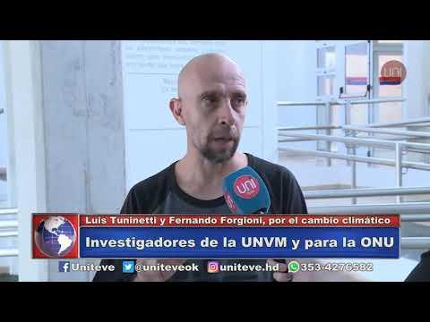 Investigadores de la UNVM a la ONU (Luis Tuninetti y Fernando Forgioni, docentes de la UNVM)