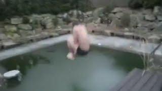 Прыжок в замороженный бассейн / Jump into a frozen pool