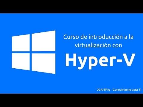 Curso de Hyper-V - Crear conmutadores de red virtuales externa