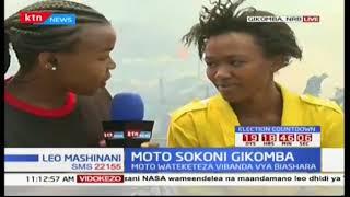 Moto wateketeza vibanda vya biashara Gikomba