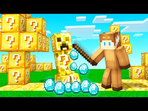 MINECRAFT, But EVERYTHING YOU TOUCH IS LUCKY BLOCKS!
