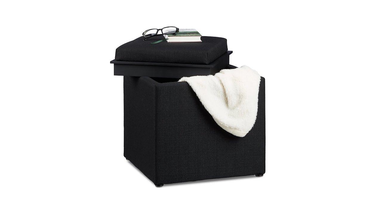 Sitzhocker Mit Stauraum sitzhocker mit stauraum sitzwürfel hier kaufen relaxdays de