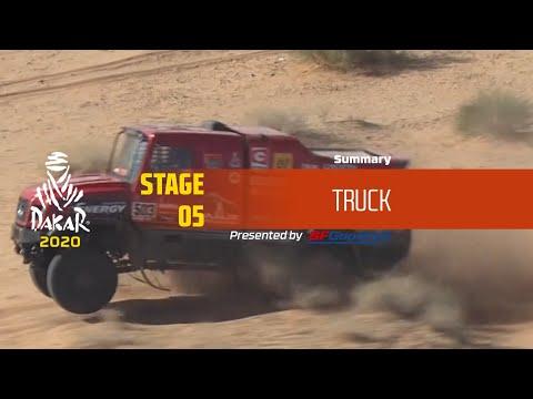 【ダカールラリーハイライト動画】ステージ5 トラック部門のハイライト