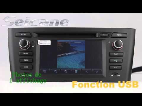 BMW E81 Système de Navigation GPS autoradio avec DVD Radio Bluetooth IPod