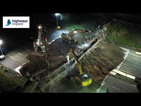 Demolition of Burton Bank footbridge