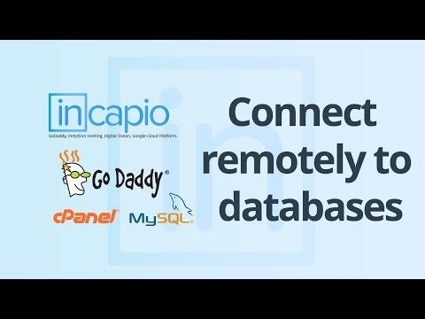 How to connect to mysql database remotely with mysql workbench | GoDaddy | 2018