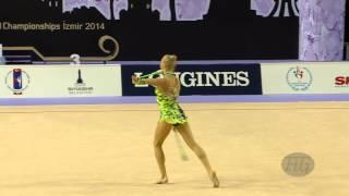 preview picture of video 'MOUSTAFAEVA Kseniya (FRA) - 2014 Rhythmic Worlds, Izmir (TUR) - Qualifications Clubs'