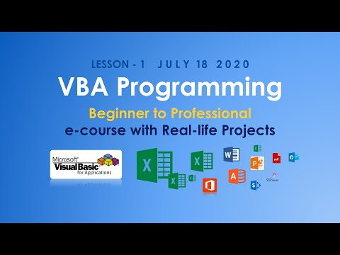 VBA Programming e-course with Real-Life Projects - E01