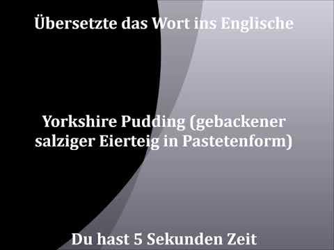 Yorkshire Pudding gebackener salziger Eierteig in Pastetenform | deutsch - englisch