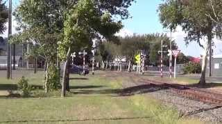 preview picture of video 'DL's and a silver fern railcar at wanganui 1,3,15'