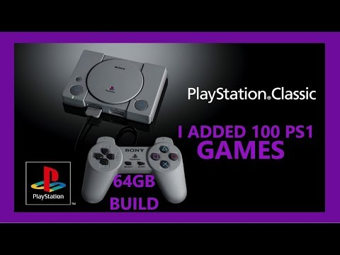 100 GAMES PS1 PS CLASSIC MINI MODDED HACKED 64GB BLEEMSYNC - RETRO