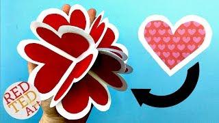 3D Pop Up Heart Card DIY - Alternative Explosion Card - Circular Heart Card - Easy Valentines DIY