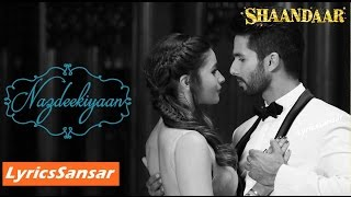 NAZDEEKIYAAN | SONG WITH LYRICS   - YouTube