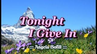Tonight I Give In - Angela Bofill (KARAOKE)