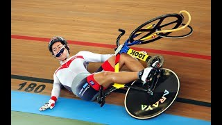 Ужас на треке! Crazy Track Road Cycling Crashes