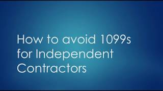 How to Avoid 1099s