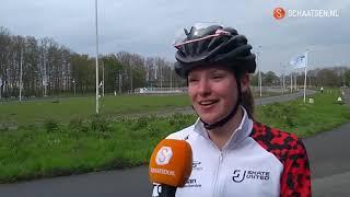 Lianne van Loon is meer dan een sprinter in regenachtig Rotterdam