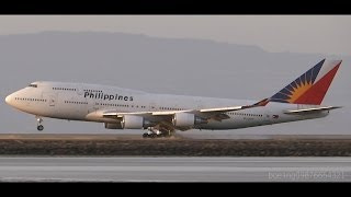 HD Philippine Airlines Boeing 747-4F6 Landing at San Francisco International Airport