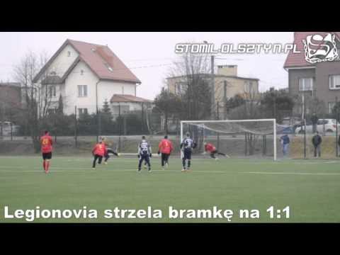 Legionovia Legionowo strzela bramkę na 1:1 w meczu ze Stomilem Olsztyn