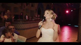 Рэп на свадьбе в исполнении невесты Ирины. Подарок жениху от невесты